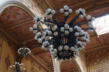 The beautiful chandeliers...